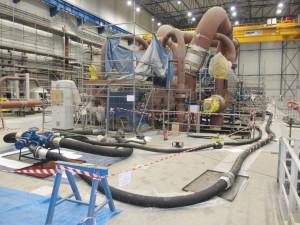 Instalacja płukania turbulentnego układu olejowego turbozespołu