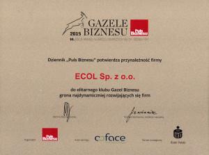 Gazele_2015_certyfikat