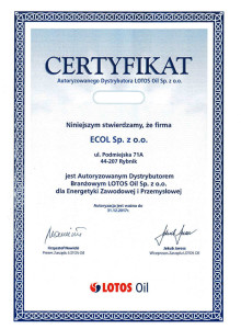Lotos_Oil_Certyfikat_Ecol_2017